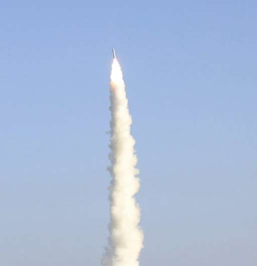The launch aimed to demonstrate an early working model of the company's OS-X series of rockets, designed to conduct research lin