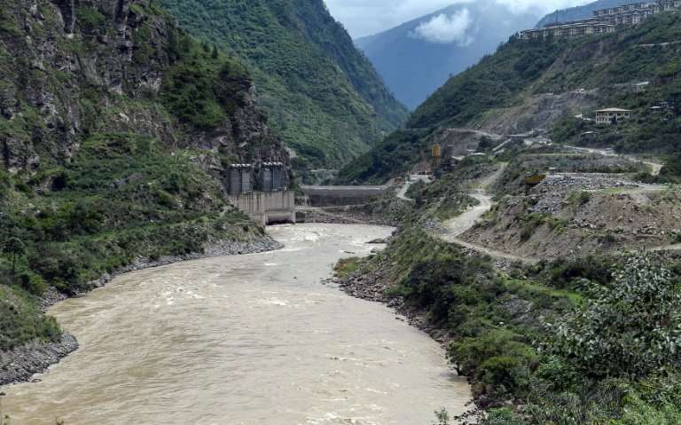 The Punatsangchu River—the site of an existing hydropower project that is currently being expanded