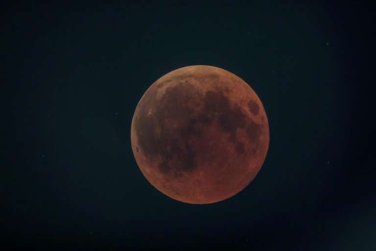 """The """"blood moon""""—the longest this century—viewed in Kenya on Friday"""
