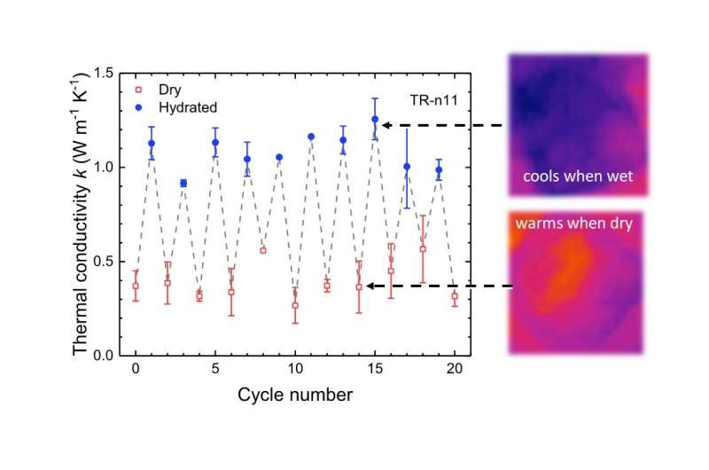 Thermal switch discovered in engineered squid-based biomaterials