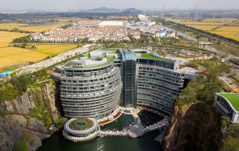 The swanky hotel is part of a huge project that includes a theme park