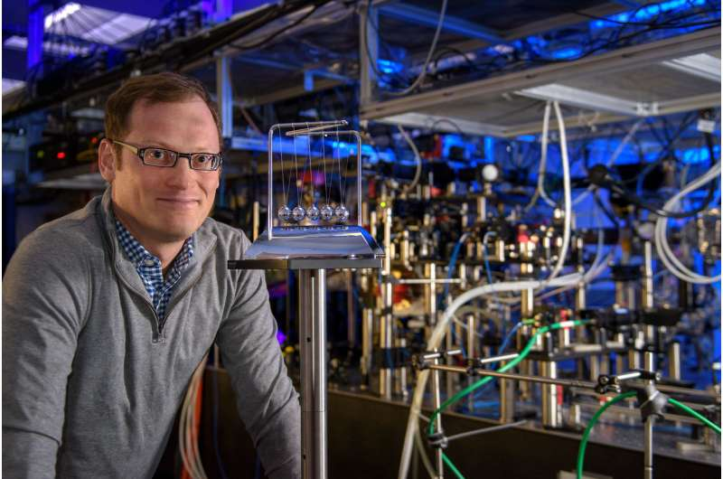 Toy-inspired experiment on behavior of quantum systems