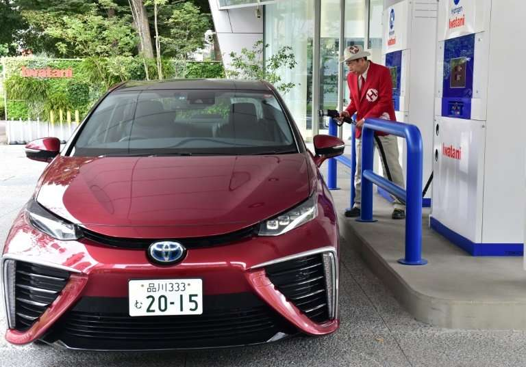 Toyota produced the world's first fuel-cell car