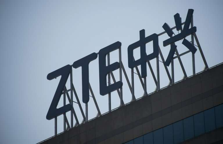 Trading in ZTE shares in Hong Kong and Shenzhen has been halted since the US slapped it with sanctions last month