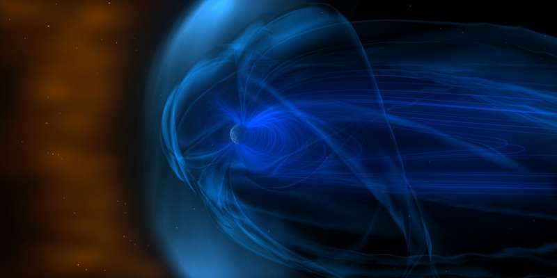 UMD-led study shows how Earth slows the solar wind to a gentle breeze