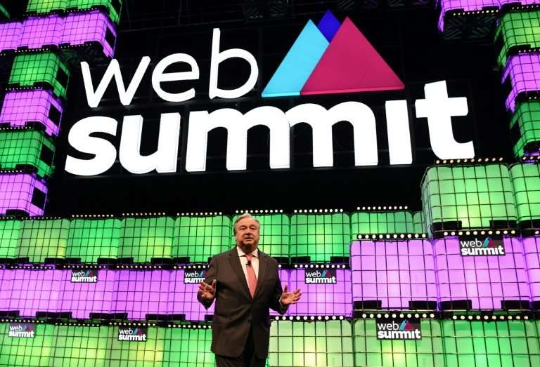 """UN Secretary-General Antonio Guterres told the Web Summit that he was """"very happy I have chosen my soulmate by traditional"""