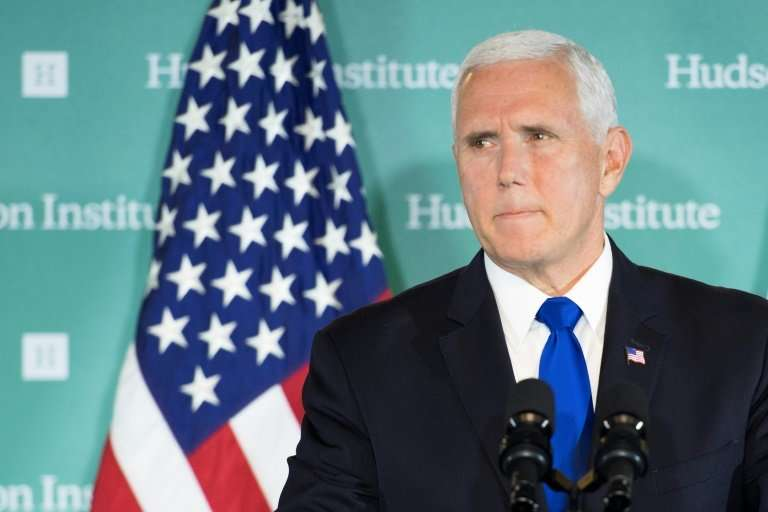 """US Vice President Mike Pence envisions a US """"Space Force"""" by 2020, but not initially as a separate branch of the milit"""