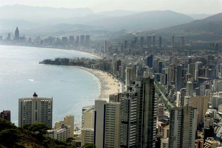 View of Benidorm on Spain's Costa del Sol on July 29, 2007