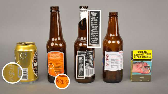 Warning labels on alcohol containers highly deficient, new research shows