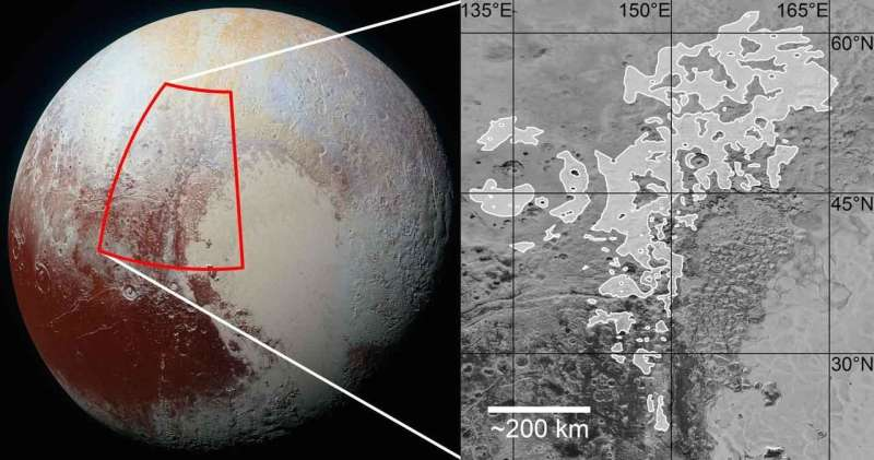 Washboard and fluted terrains on Pluto as evidence for ancient glaciation