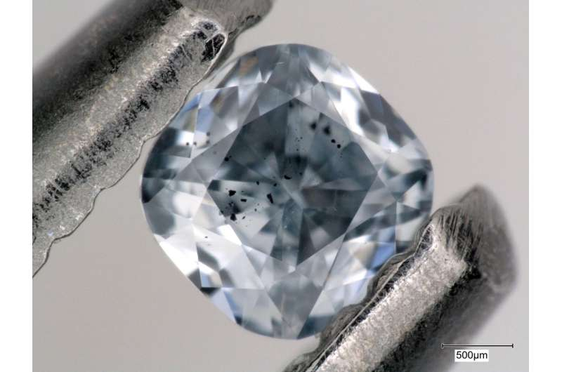 What makes diamonds blue? Boron from oceanic crustal remnants in Earth's lower mantle
