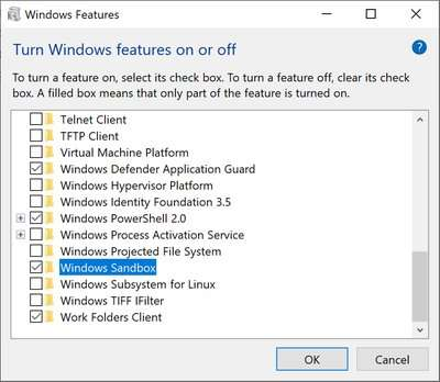 Windows Sandbox offers safe zone if app looks suspicious