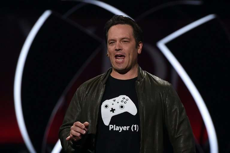 Xbox chief Phil Spencer speaks on stage at the Microsoft Xbox E3 Briefing in Los Angeles, California, in June 2017