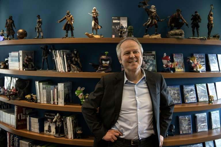 Yves Guillemot, chief executive of French video game developer Ubisoft, in his office at the company's headquarters in Montreuil
