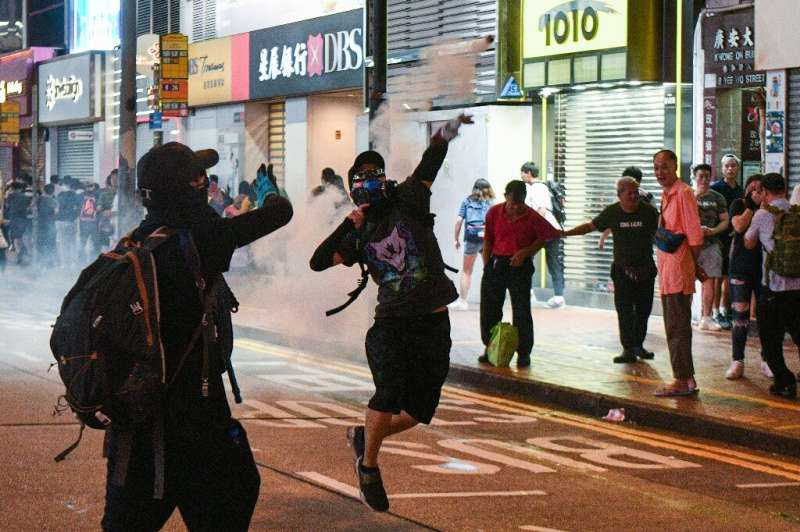 A smartphone app allowing users to play the role of a Hong Kong protester has been removed from the Google Play Store, after the