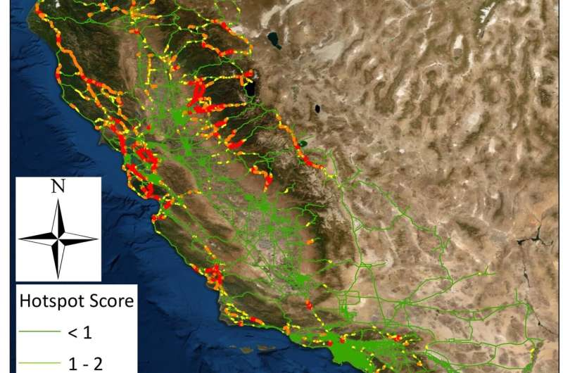 California roadkill report maps costs, hot spots and solutions