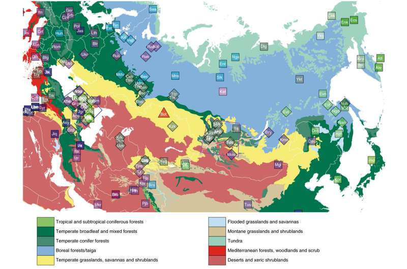 Details of the history of inner Eurasia revealed by new study