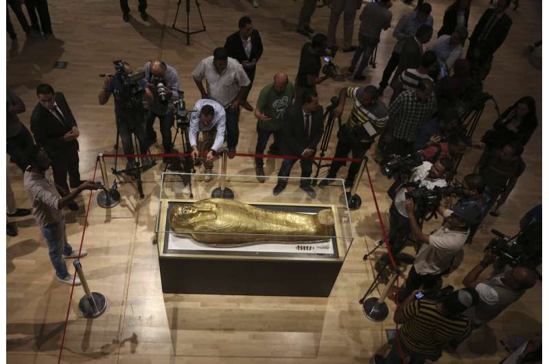 Egypt displays looted coffin returned from New York's Met