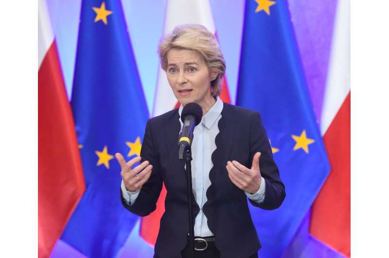 European Commission Chief Ursula von der Leyen promised to launch an EU fund to help wean members off fossil fuels as she visite