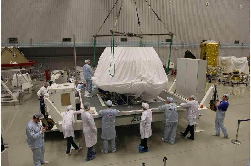 ExoMars landing platform arrives in Europe with a name