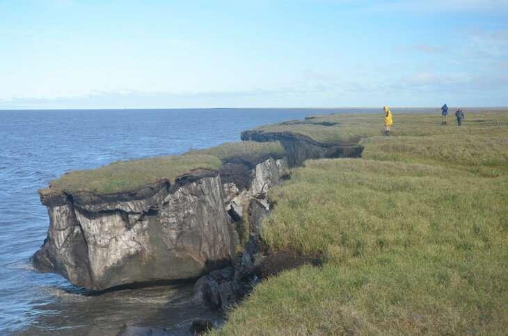Exploring permafrost coastal erosion in the Arctic