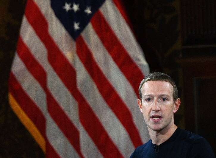 Facebook founder Mark Zuckerberg was in Washington as G7 ministers prepare to release a report about the social network's plan t