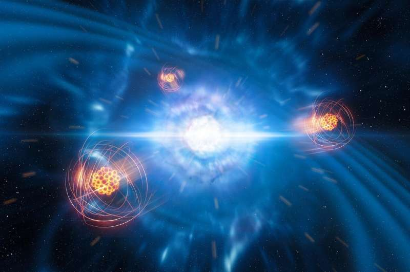 First identification of a heavy element born from neutron star collision
