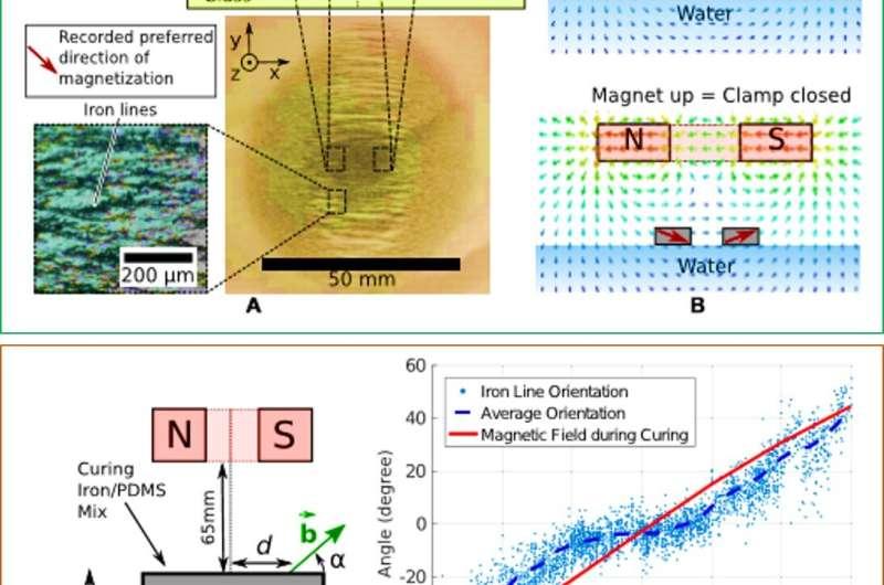 Floating magnetic microrobots for fiber functionalization