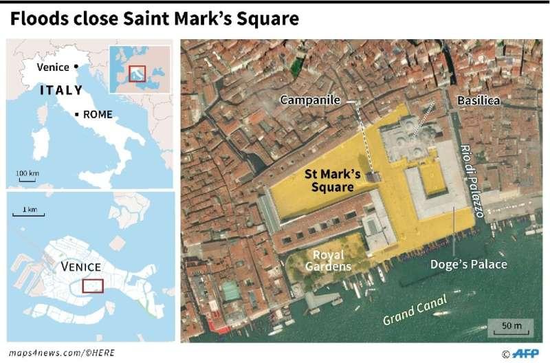 Floods close St Mark's Square