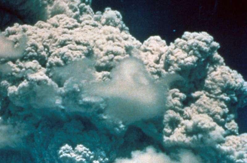 Geoengineering versus a volcano