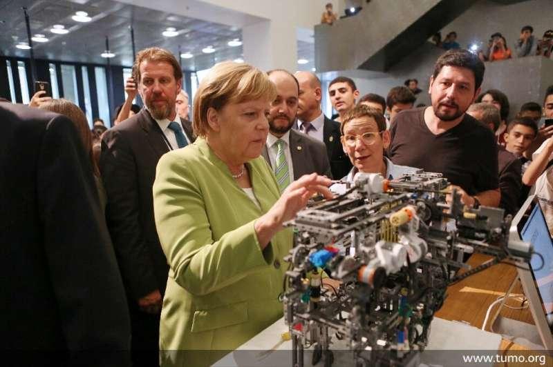 "German Chancellor Angela Merkel visited the Tumo school last year, calling it a ""philosophy"""