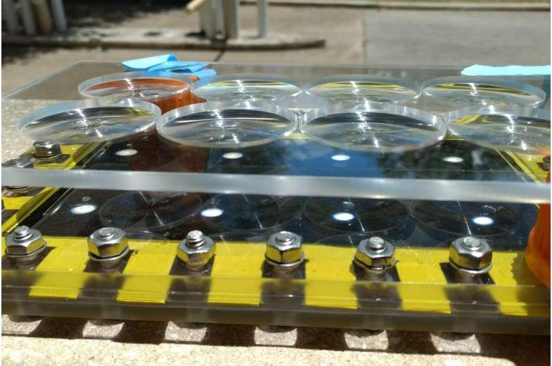 'Hot spots' increase efficiency of solar desalination