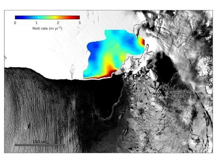 How solar heat drives rapid melting of parts of Antarctica's largest ice shelf
