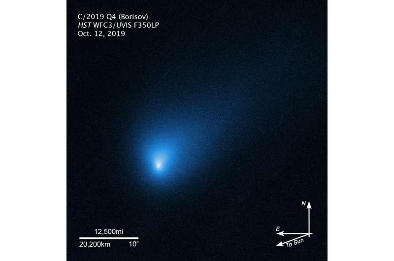 Hubble Telescope zooms in on interstellar visitor