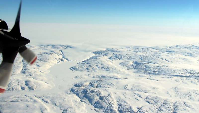 Ice sheets in Greenland and the Antarctic have shed more than 430 billion tonnes per year in the last 10 years