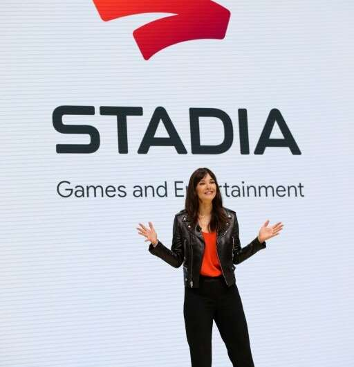 Jade Raymond, head of Google's Stadia, speaks during the GDC Game Developers Conference
