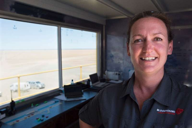 Jessica Kinsman, 39, is an air traffic controller who oversees the Bloodhound's safety
