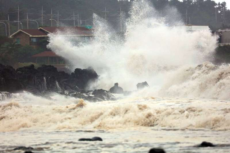 Mitag is the seventh typhoon to hit the Korean peninsula this year