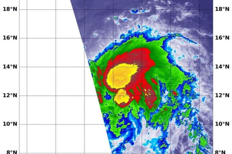 NASA casts a double eye on hurricane Flossie