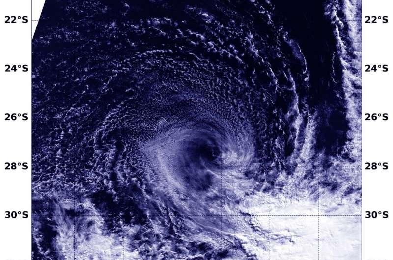 NASA finds wind shear tearing apart Subtropical Cyclone Joaninha