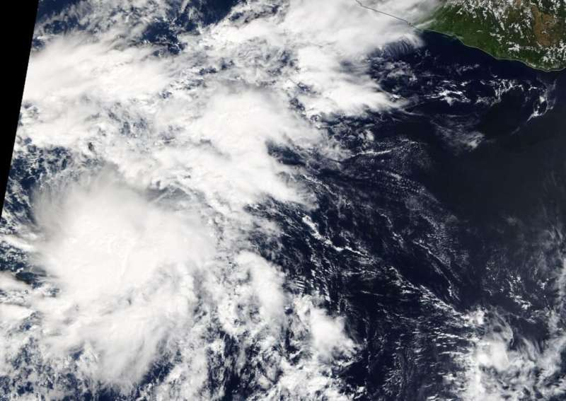 NASA identifies new eastern pacific tropical storm