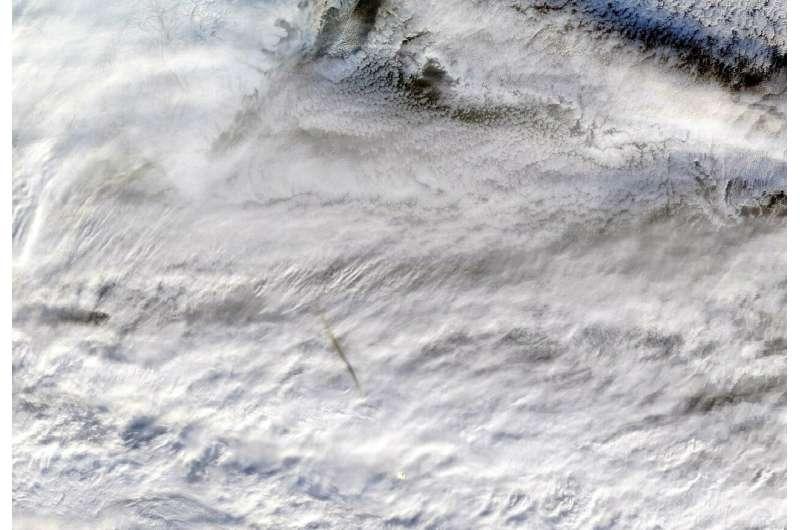 NASA instruments image fireball over Bering Sea
