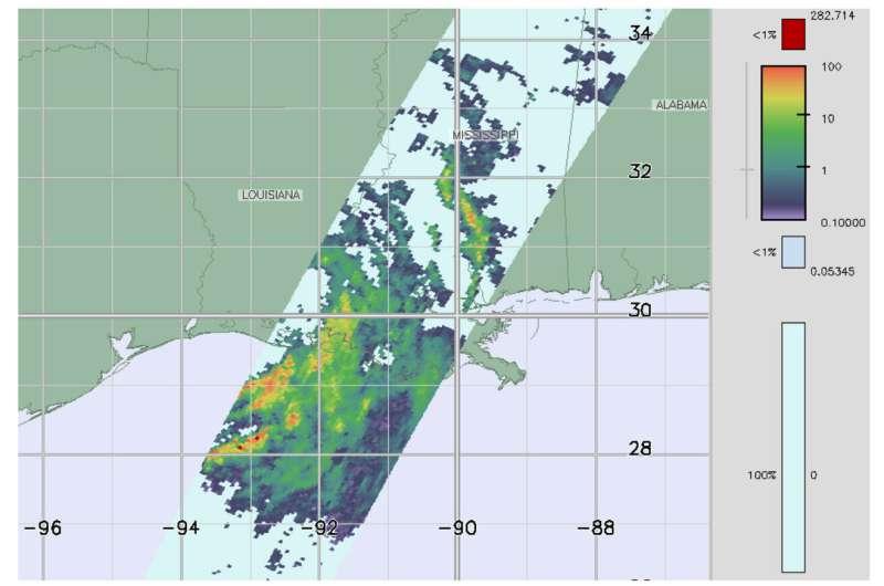 NASA looks at Barry's rainfall rates