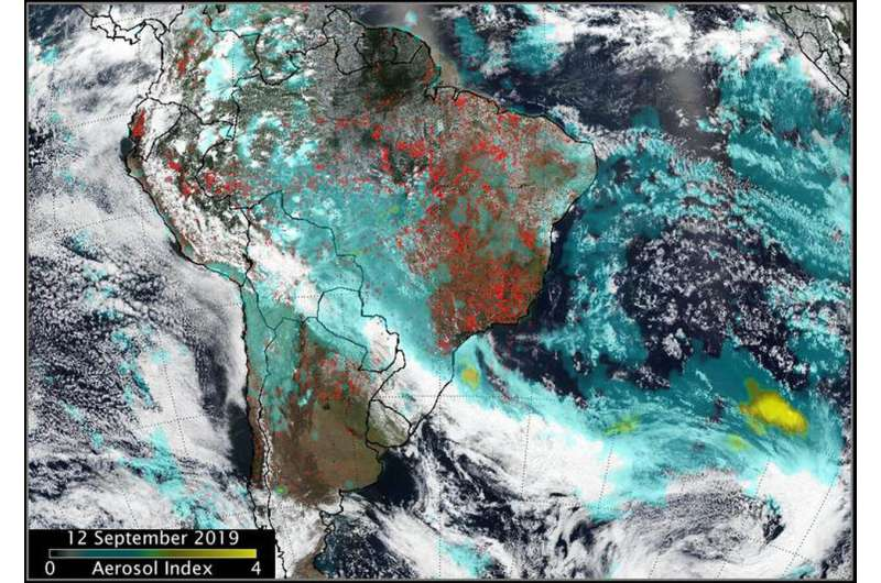NASA-NOAA's Suomi NPP tracks fire and smoke from two continents