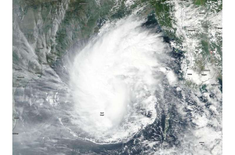 NASA observes Tropical Storm Matmo in North Central Bay of Bengal