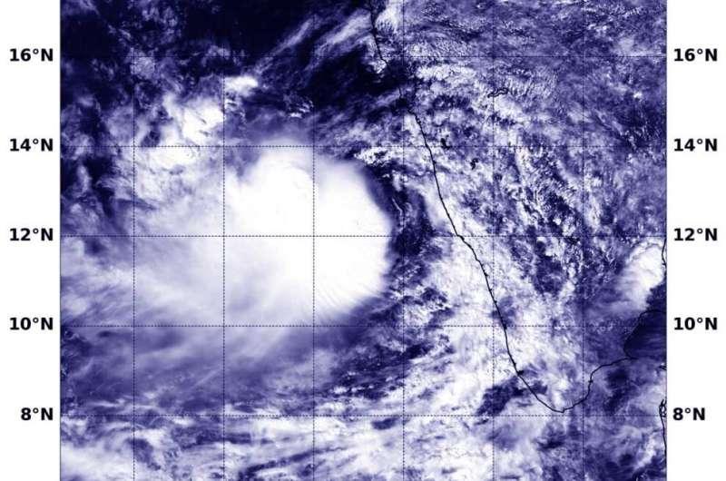 NASA sees development of Tropical Storm Maha at southwestern India Coast