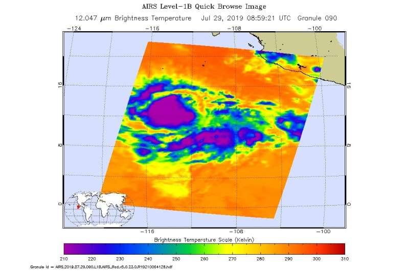 NASA takes tropical storm Flossie's temperature