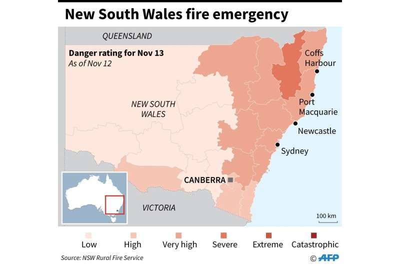 New South Wales fire emergency