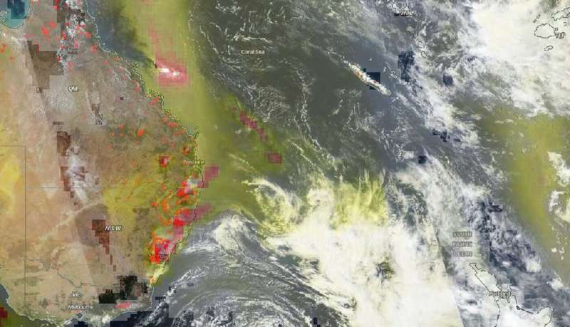 NOAA-NASA's Suomi NPP satellite views New South Wales fires raging on