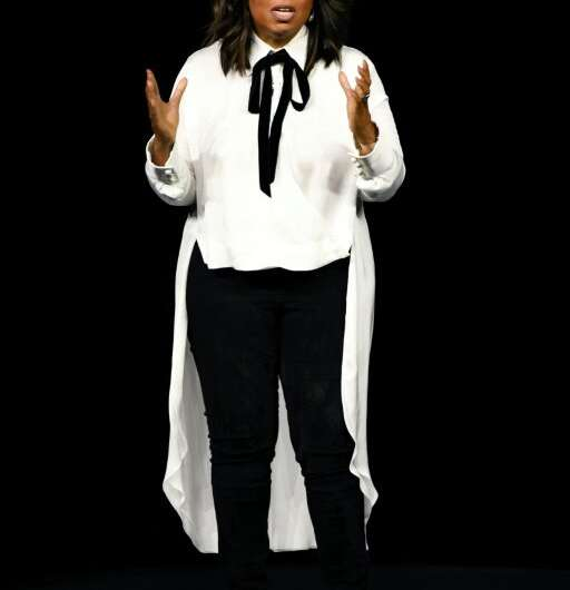 Oprah Winfrey, speaking at the Apple product launch event, will be producing shows for Apple's new streaming video service